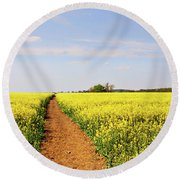 The Path To Bosworth Field Round Beach Towel