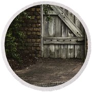 The Path To The Doorway Round Beach Towel