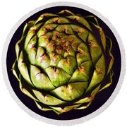 The Patterns Of The Artichoke Round Beach Towel