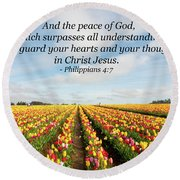 The Peace Of God Round Beach Towel