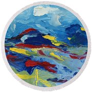 The Peak Round Beach Towel