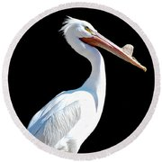 The Pelican  Round Beach Towel