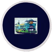 The Penang Ferry Round Beach Towel