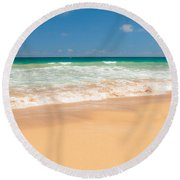 The Perfect Beach - Kapaa Kauai Hawaii Round Beach Towel