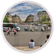 The Perfect View- Avenue De L'opera Paris  Round Beach Towel