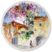 The Perigord In France Round Beach Towel