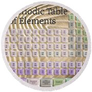 The Periodic Table Of Elements 1 Round Beach Towel