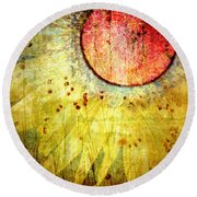The Petals Round Beach Towel
