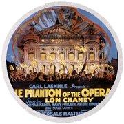 The Phantom Of The Opera Round Beach Towel
