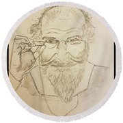 The Philosopher  Round Beach Towel