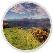 The Picnic Spot Of Dreams Round Beach Towel