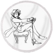 The Picture Of Dorian Gray - 2 Round Beach Towel