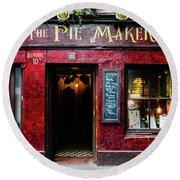 The Pie Maker Round Beach Towel