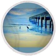 The Pier Round Beach Towel
