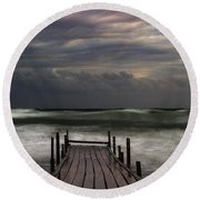 The Pier...ayia Napa Round Beach Towel
