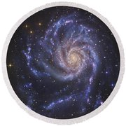 The Pinwheel Galaxy, Also Known As Ngc Round Beach Towel