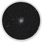 The Pinwheel Galaxy Round Beach Towel