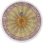 The Planisphere Of Copernicus Harmonia Round Beach Towel
