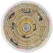 The Planisphere Of Ptolemy, Harmonia Round Beach Towel by Science Source