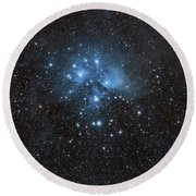 The Pleiades, Also Known As The Seven Round Beach Towel by John Davis