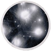 The Pleiades Star Cluster, Also Known Round Beach Towel by Stocktrek Images