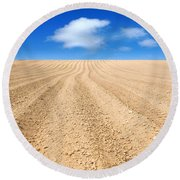 The Ploughed Field 2 Round Beach Towel