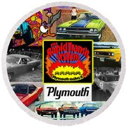 The Plymouth Rapid Transit System Collage Round Beach Towel
