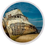 The Point Reyes Beached Round Beach Towel