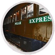 The Polar Express Round Beach Towel