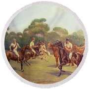 The Polo Match Round Beach Towel