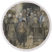 The Poor And Money The Hague, September - October 1882 Vincent Van Gogh 1853  1890 Round Beach Towel