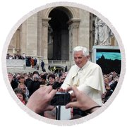 The Pope Round Beach Towel