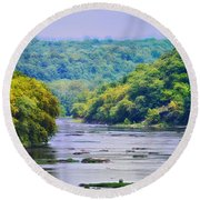 The Potomac Round Beach Towel by Bill Cannon
