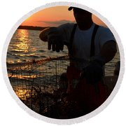 The Potomac In Color Round Beach Towel