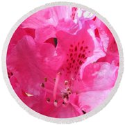 The Power Of Pink Round Beach Towel