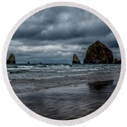 The Power Of The Sea Round Beach Towel