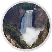 The Power Of Yellowstone Round Beach Towel
