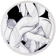 The Powerful Spell Of A Modigliani Woman Round Beach Towel