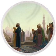 The Prayer Round Beach Towel by Jean Leon Gerome