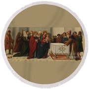 The Presentation At The Temple Round Beach Towel