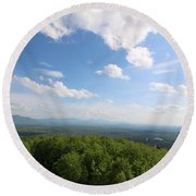 The Presidential Range From Mount Prospect Round Beach Towel