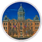 The Presidio County Courthouse Round Beach Towel