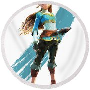 The Princess Of Hyrule Round Beach Towel