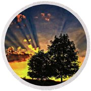 The Promise Oil Round Beach Towel