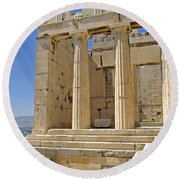 The Propylaia In Athens          The Propylaia - Vertical                                    Round Beach Towel
