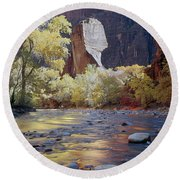 312447-the Pulpit  Round Beach Towel