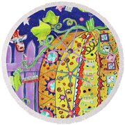 The Pumpkin Papers Round Beach Towel