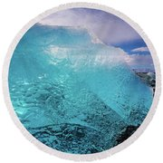 The Pure Blue Round Beach Towel