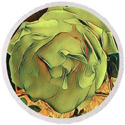 The Purest Rose Round Beach Towel