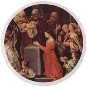 The Purification Of The Virgin 1640 Round Beach Towel